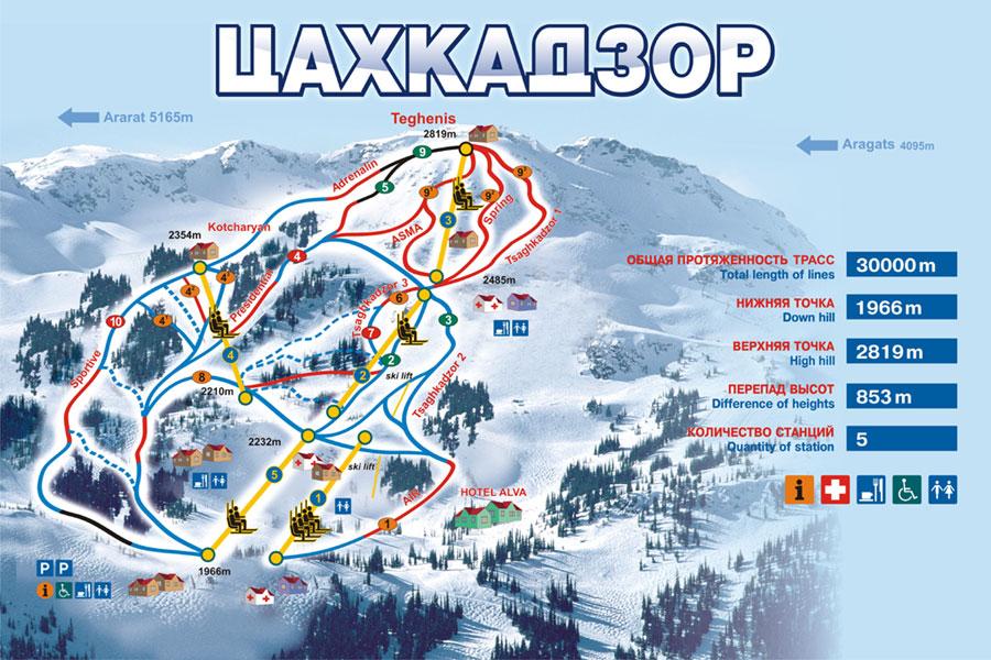 Цахкадзор – зимний курорт